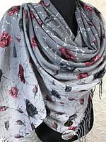"""Женские турецкие хлопковые палантины """"Стамбульская роза"""""""