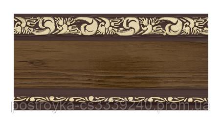 Лента декоративная на карниз, бленда Ажур 3 Орех темный 70 мм на усиленный потолочный карниз КСМ