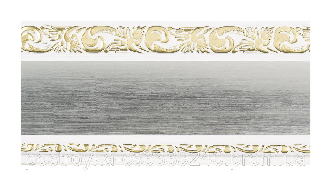 Лента декоративная на карниз, бленда Ажур 3 Сатин 70 мм на усиленный потолочный карниз КСМ