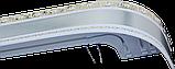 Лента декоративная на карниз, бленда Ажур 3 Сатин 70 мм на усиленный потолочный карниз КСМ, фото 2