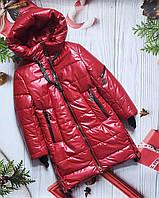 """Зимнее пальто  для девочки """"Кензо"""" (134-158р)."""