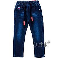 """Джинсы для мальчика на флисе. Размер: 98. темно-синий джинс. TM """"TAURUS"""" B03. Венгрия."""
