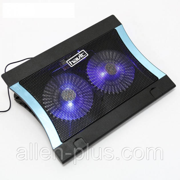 "Подставка-кулер для ноутбука HAVIT HV-F2051 (14-17""), USB, black, подсветка"