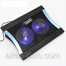 """Підставку-кулер для ноутбука HAVIT HV-F2051 (14-17""""), USB, black, підсвітка"""
