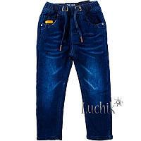 """Джинсы для мальчика на флисе. Размер: 98. темно-синий джинс. TM """"TAURUS"""" T-58. Венгрия."""
