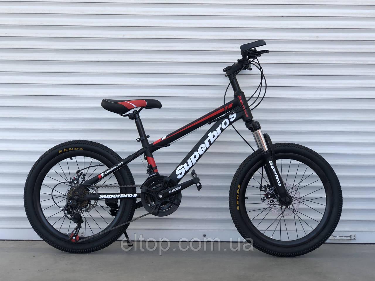 Детский спортивный горный велосипед 20 дюймов TopRider MTB-1 красный