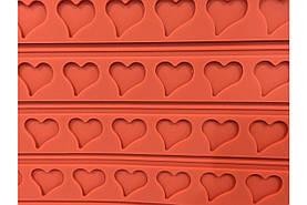 Коврик для макаронс Empire - 555 x 365 мм сердце (8418)