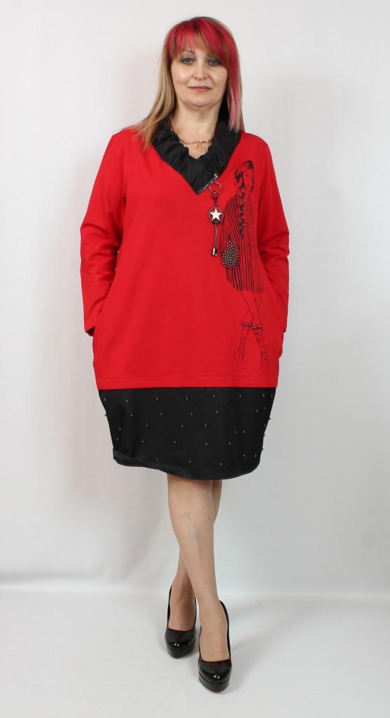 Турецкое женское платье свободного кроя больших размеров 52-62