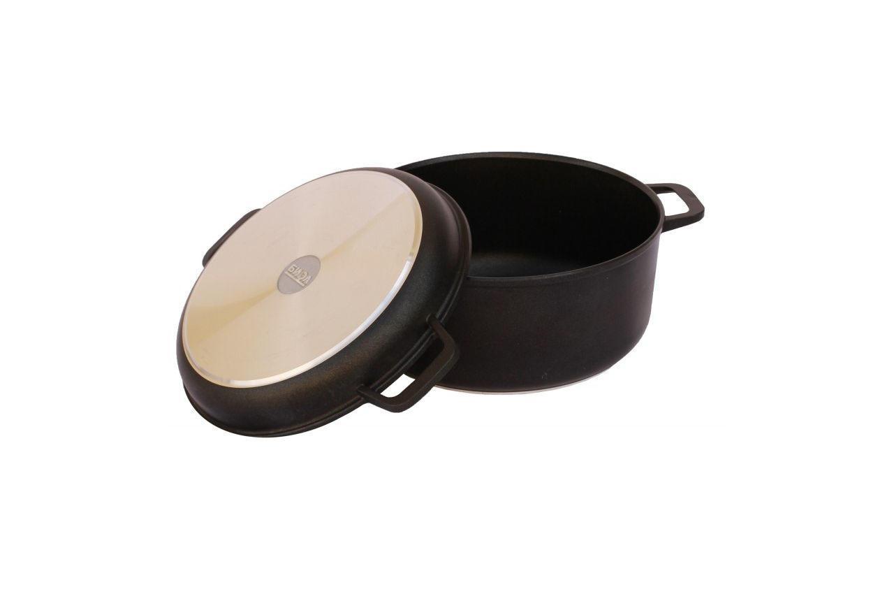 Кастрюля антипригарная Биол - 260 х 161 мм х 5 л, с крышкой-сковородкой (K502P)