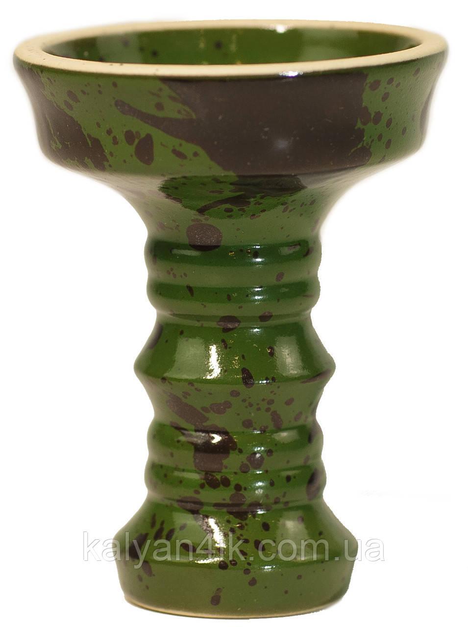 Чаша Fog Sakura Full-Glazed Зеленый с черным
