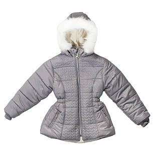 Зимний пуховик для девочки, еврозима, размеры 8, 9 лет