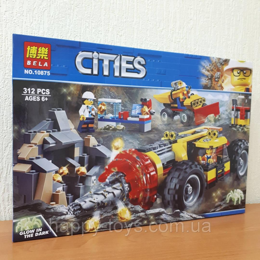 Конструктор Bela Cities 10875 Тяжелый бур для горных работ 312 деталей