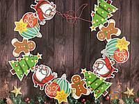"Гирлянда ""HAPPY NEW YEAR"" SNOWMAN"" МИКС, фото 1"