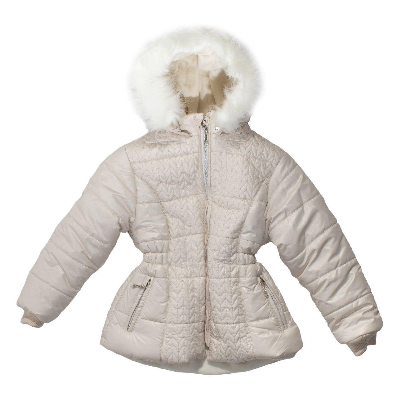 Зимний пуховик для девочки, еврозима, размеры 7, 8, 9 лет