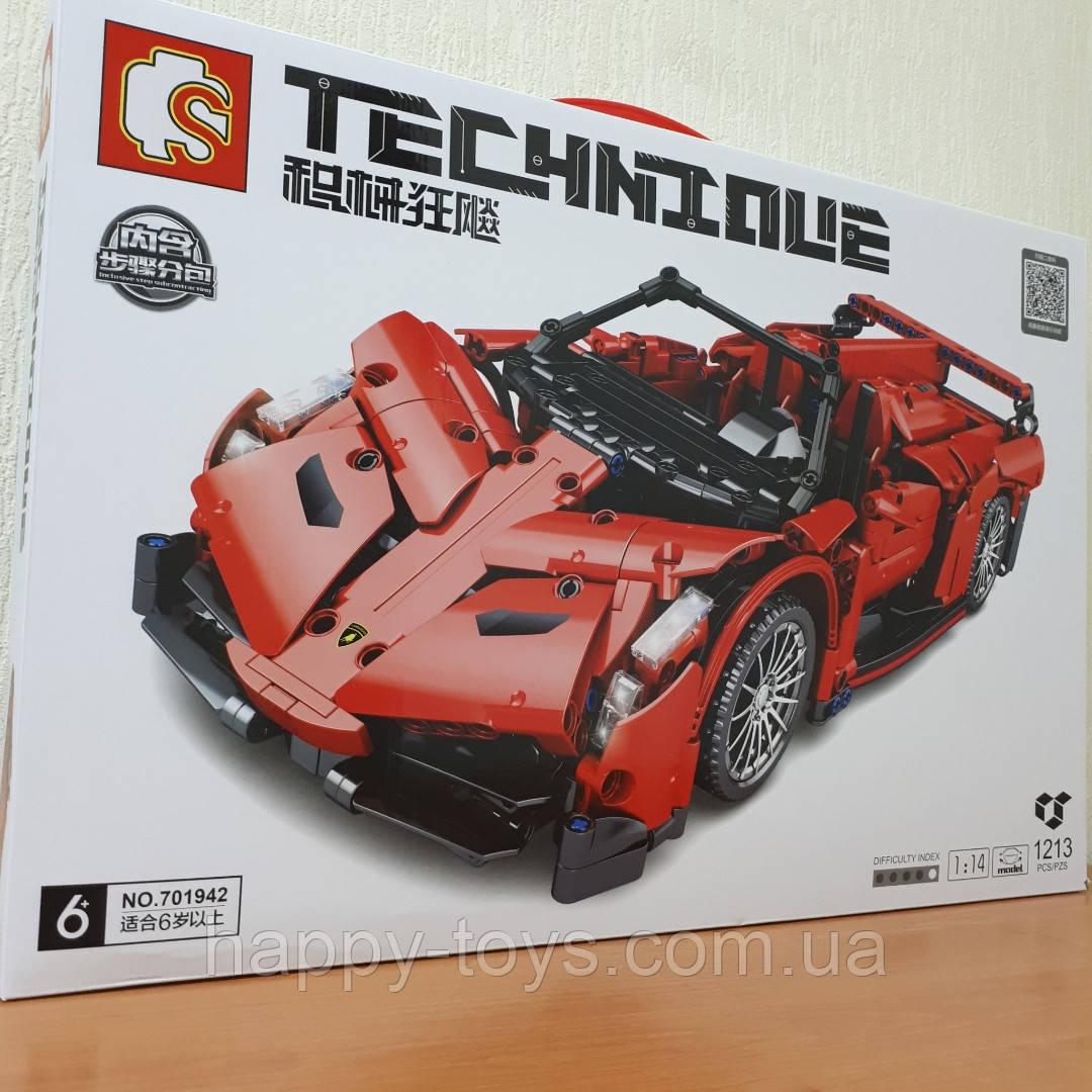 Конструктор Lamborghini Poison 1213 деталей Sembo Block 701942