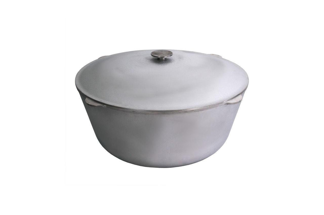 Казан алюминиевый Биол - 450 х 262 мм х 25 л, с крышкой (K2500)
