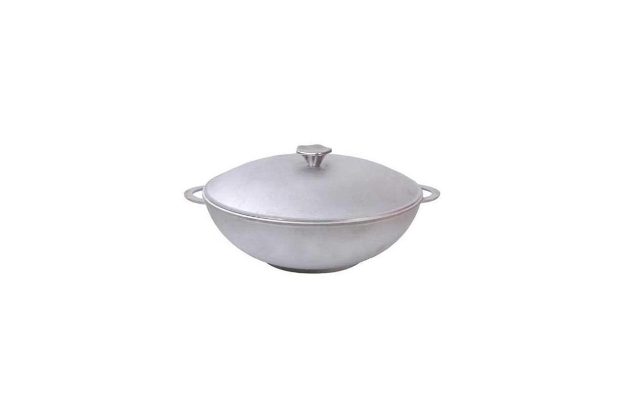 """Сковорода алюминиевая Биол - 280 x 100 мм x 4 л """"wok"""" с литыми ручками и крышкой (2803K)"""
