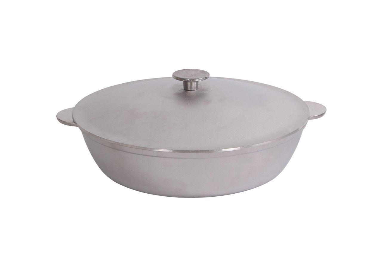 """Сковорода алюминиевая Биол - 320 x 100 мм x 5 л """"wok"""" с литыми ручками и крышкой (3203K)"""