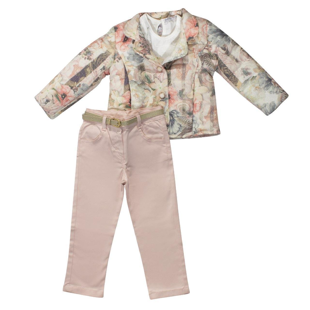 Куртка, футболка и штаны для девочки, размеры 3, 4 года, 5 лет