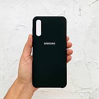 Чехол на Samsung Galaxy A30s Silicone Case черный силиконовый / для Самсунг А30с Гелекси А30 с