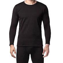 Термобілизна комплект чоловічий, чорний, бавовна, 50-52 (175/100)