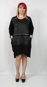 Турецкое женское платье свободного кроя больших размеров 52-64