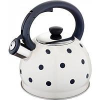Чайник из нержавеющей стали со свистком 2 L Rainstahl RS 7638-20 White