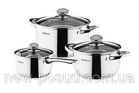 Набор посуды из нержавеющей стали 6 предметов Ardesto Gemini Gourmet AR1906PS