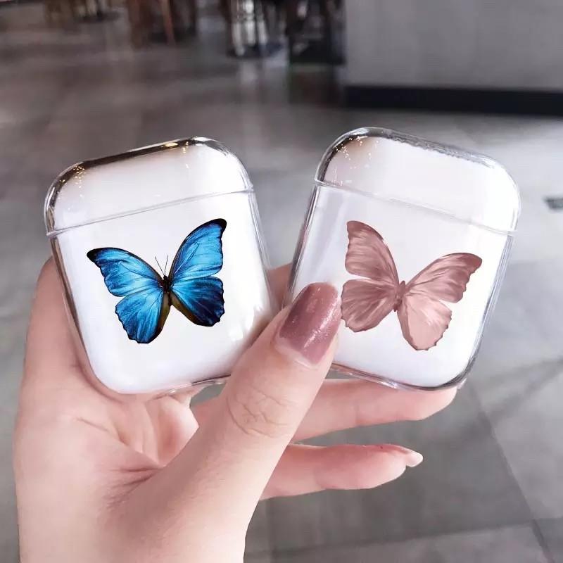 Футляр для наушников Apple AirPods Бабочка (Pink)