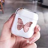 Футляр для наушников Apple AirPods Бабочка (Pink), фото 2