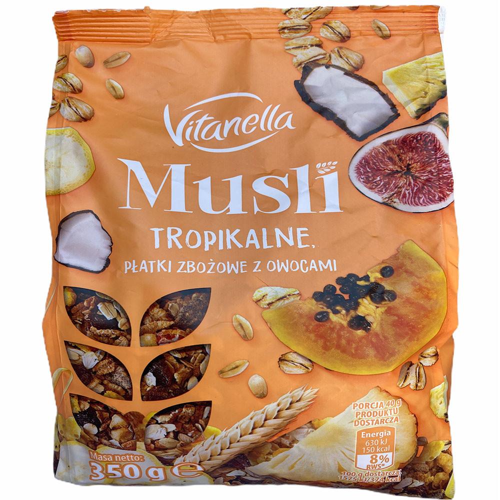 Мюсли Vitanella, с тропическими фруктами