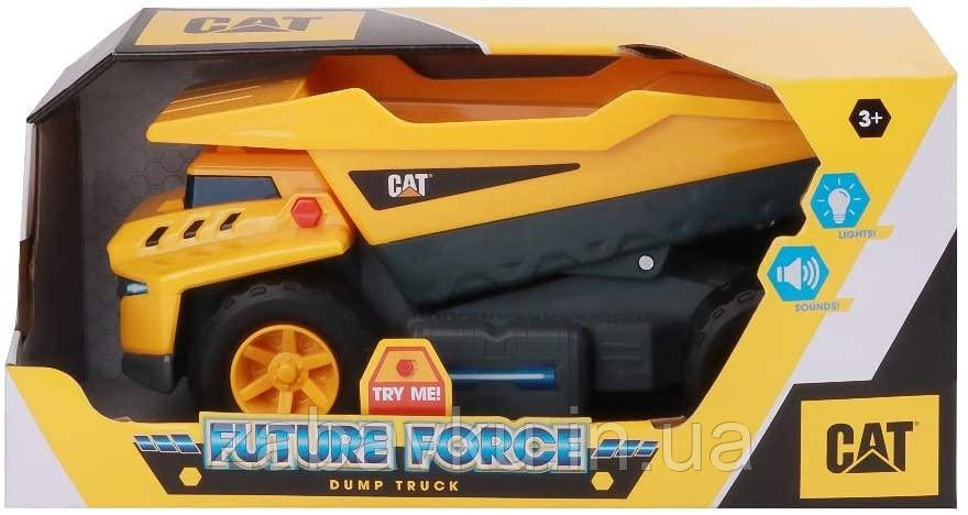 Самосвал грузовик строительная техника свет, звук Catepillar Cat Future Force Truck