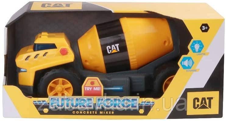 Бетономешалка свет звук Catepillar Cat Future Force Cement Mixer строительная техника