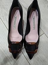 Туфельки на низькому каблуці Bravo Moda 1902 Чорні шкіра 40, фото 3