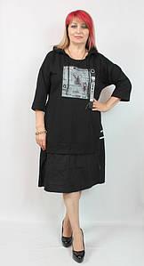 Турецкое женское платье А-силуэта больших размеров 48-54