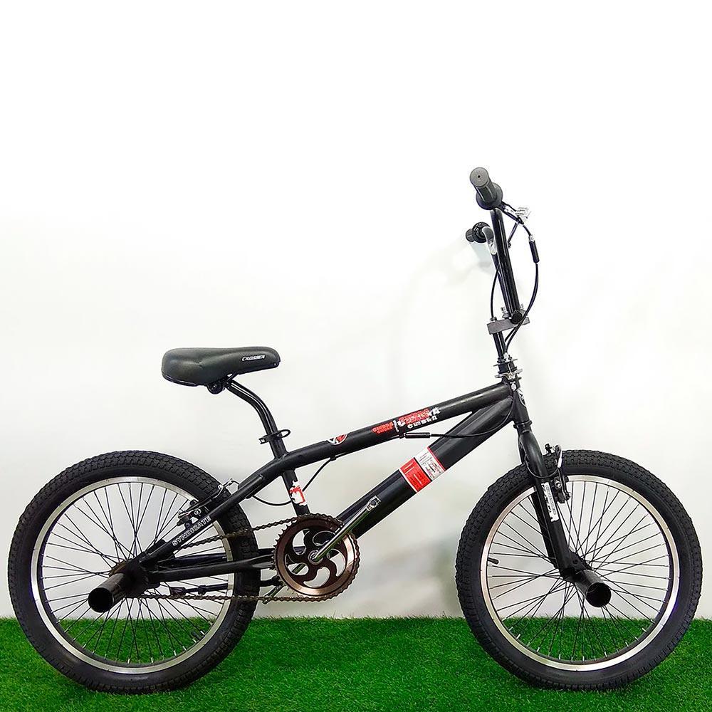 Трюковой велосипед BMX Crosser Cobra 20 дюймов черно-красный