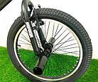 Трюковой велосипед BMX Crosser Cobra 20 дюймов черно-красный, фото 5