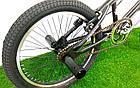 Трюковой велосипед BMX Crosser Cobra 20 дюймов черно-красный, фото 6