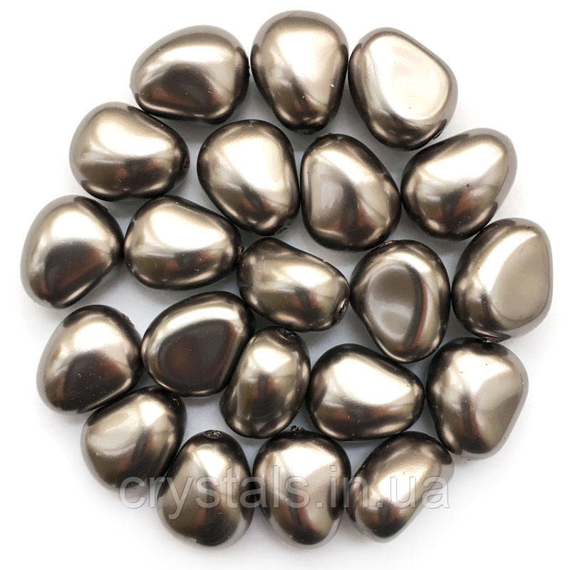 Жемчуг неправильной формы Preciosa (Чехия) 11х9.5 мм Dark Grey