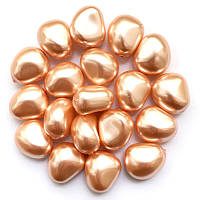 Жемчуг неправильной формы Preciosa (Чехия) 11х9.5 мм Gold