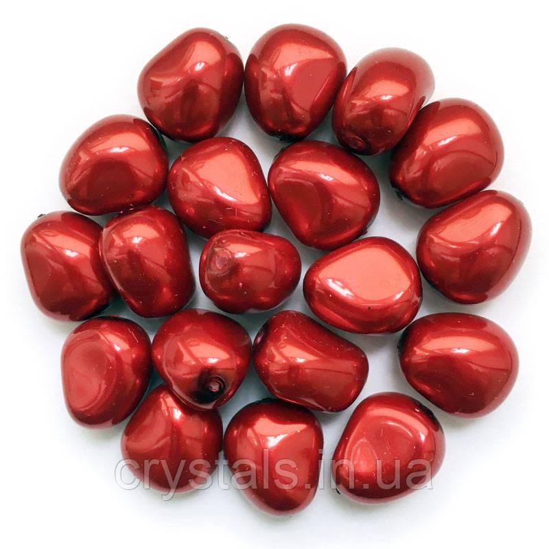 Жемчуг неправильной формы Preciosa (Чехия) 11х9.5 мм Red