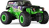 Monster Jam Внедорожник на пульте 1:24 Монстер Джем Трак Hot Wheels Monster Truck Grave Digger джип, фото 3