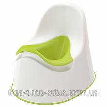 Горщик дитячий IKEA LOCKIG зелений білий зелений 601.931.28