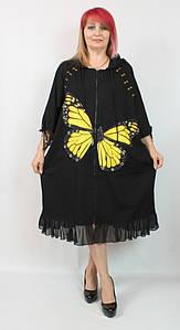 Турецкое женское платье - кардиган больших размеров 54-64