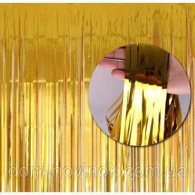 Шторка из фольги для фото зоны (золото)