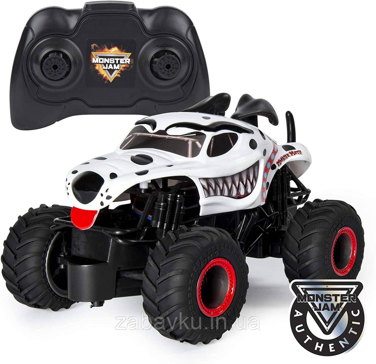 Monster Jam Внедорожник на пульте 1:24 Монстер Джем Трак Hot Wheels Monster Truck Mutt Dalmatia джип