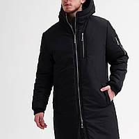 Мужская зимняя куртка удлиненная