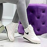 Молодежные высокие белые зимние женские кроссовки текстиль плащевка, фото 3