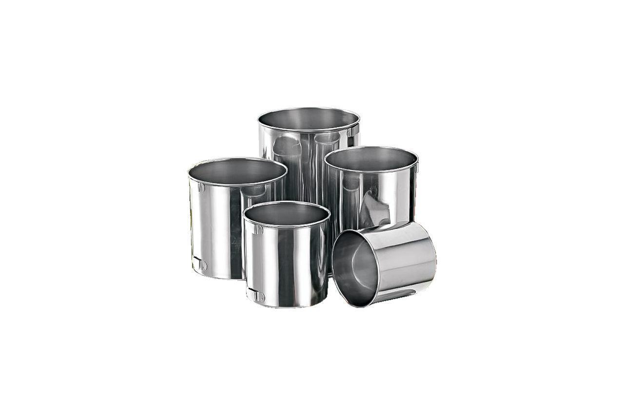 Набір кухлів нержавіючих Empire - 300 x 500 x 600 x 800 x 1000 мл (5 шт.) (0982)