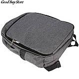 Большой серый рюкзак для парикмахерских инструментов (инструменты не входят в комплект) 49х34х11 см, фото 3